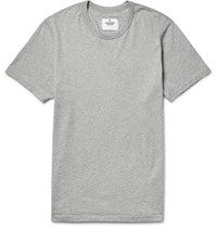 Reigning Champ Ring Pun Cotton Jerey T Hirt Light Gray