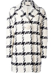 Alexander Mcqueen Checked Single Button Trapeze Coat Nude Neutrals