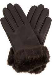 Oasis Fur Trim Leather Glove