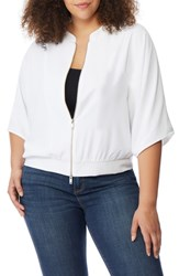 Rebel Wilson X Angels Plus Size Dolman Sleeve Jacket White