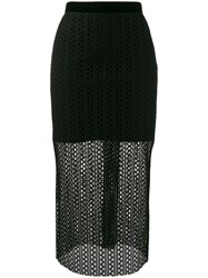 Philosophy Di Lorenzo Serafini Knitted Midi Skirt Black