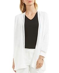 Vince Camuto Sheer Trim Cardigan New Ivory