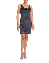 Guess Grommet Faux Suede Dress Midnight Blue