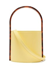 Staud Bisset Acetate And Leather Bucket Bag Yellow Multi