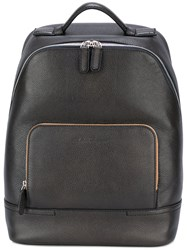 Salvatore Ferragamo Contrast Metallic Detail Backpack Black