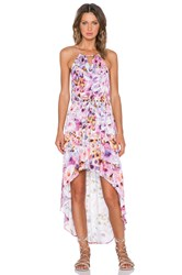 Minkpink My Sweet Garden Hi Lo Maxi Dress Purple