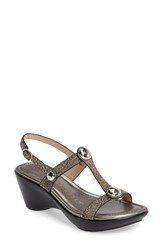 Athena Alexander Women's Pettra Sandal Pewter Faux Leather