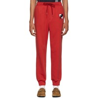 Burberry Red Chequer Ekd Munley Track Pants