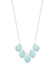 Nadri Amazonite And Sterling Silver Collar Necklace Blue