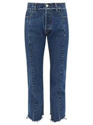 Vetements Deconstructed Straight Leg Jeans Blue