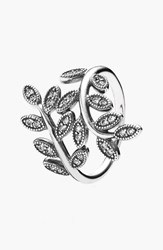 Pandora Design Women's Pandora 'Sparkling Leaves' Cocktail Ring