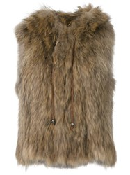 Zadig And Voltaire 'Finch' Sleeveless Jacket Nude And Neutrals