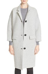 Women's Burberry Brit Wool And Cashmere Knit Long Coat