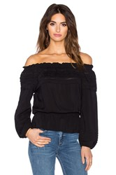 Auguste Boho Baby Gypsy Top Black