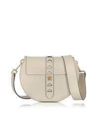 Coccinelle Carousel Large Seashell Leather Crossbody Bag Off White
