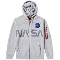 Alpha Industries Nasa Zip Hoody Grey