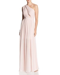 Laundry By Shelli Segal One Shoulder Gown 100 Exclusive Soft Blush