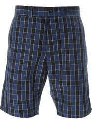 Maison Kitsune Checked Bermuda Shorts Blue
