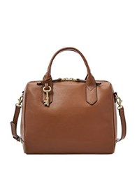 Fossil Fiona Leather Satchel Brown
