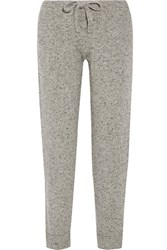 Hatch The Jogger Melange Wool Blend Track Pants Gray