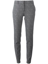 Incotex Herringbone Tailored Skinny Trousers Black