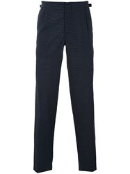 Emporio Armani Tailored Trousers Men Polyamide Polyester Cotton Linen Flax 50 Blue