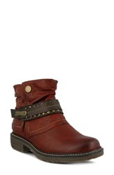 Spring Step Murna Bootie Bordeaux Faux Leather