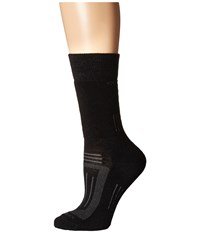 Icebreaker Hike Medium Crew 1 Pair Pack Black Women's Crew Cut Socks Shoes