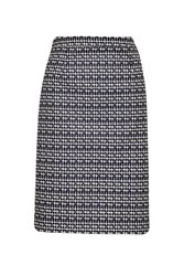 Great Plains Crosslines Pencil Skirt Blue