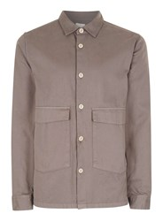 Topman Ltd Brown Double Pocket Shirt