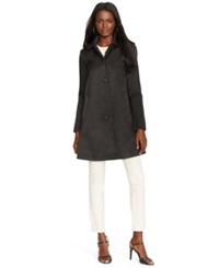 Lauren Ralph Lauren Petite Hooded Raincoat Black