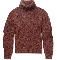 Berluti Cable Knit Cashmere Sweater Brown