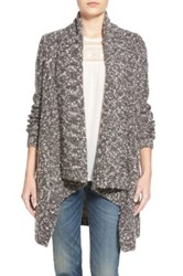 Hinge Bubble Knit Cardigan Gray