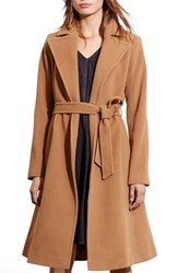 Lauren Ralph Lauren Women's Wool Blend Wrap Coat Vicuna