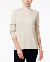 Styleandco. Style Co. Long Sleeve Mock Turtleneck Natural Heather
