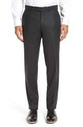 Ted Baker Men's London 'Frobisher' Flat Front Solid Wool Trousers Grey