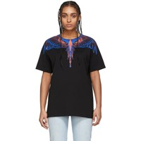 Marcelo Burlon County Of Milan Black And Pink Wings T Shirt
