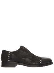 John Richmond Studded Suede Leather Lace Up Shoes