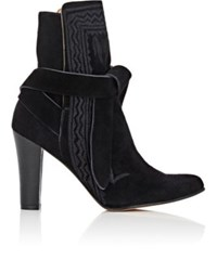 Ulla Johnson Women's Embroidered Ankle Boots Black