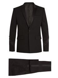 Givenchy Single Breasted Satin Trimmed Wool Tuxedo Black