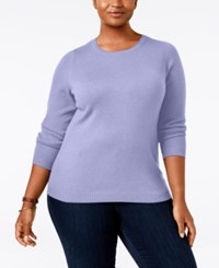 Charter Club Plus Size Cashmere Crewneck Sweater Only At Macy's Larkspur