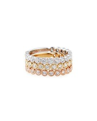 Neiman Marcus 14K Tricolor Diamond Bands Set Of 3