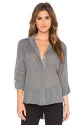Sam Edelman Kylie Zip Back Slit Button Up Gray
