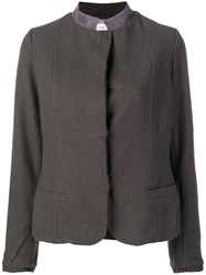 Kristensen Du Nord Contrast Collar Fitted Jacket Grey
