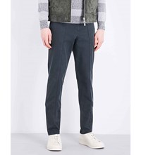 Brunello Cucinelli Regular Fit Tapered Cotton Chinos Lead Grey