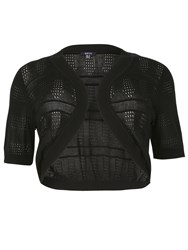 Samya Plus Size Cropped Bolero Cardigan Black