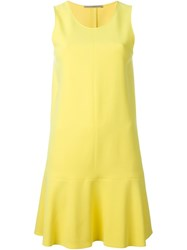 Ermanno Scervino Godet Hem Sleeveless Dress Yellow And Orange