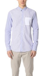 Scotch And Soda Long Sleeve Mix Match Crispy Cotton Shirt Combo A