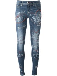Philipp Plein 'Don't Say A Word' Jeans Blue