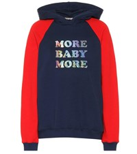 Christopher Kane More Baby More Cotton Hoodie Blue